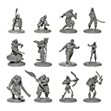 Origin Miniatures Enemy Minions Battle Pack, 36 DND Miniatures and Padded Case for Dungeons and Dragons, 6 Fantasy D&D Races: Orcs, Drow, Zombies, Skeletons, Bandits, Goblins, 12 Unique Characters