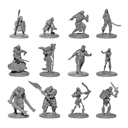 Origin Miniatures Enemy Minions Battle Pack, 36 Unpainted Miniatures with Protective Case, 6 Fantasy...
