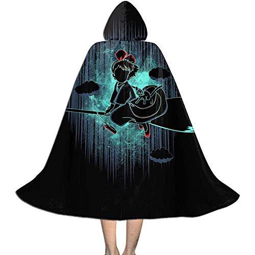 Niet van toepassing Unisex Cosplay Rol Kostuums, Capuchon Cape, Volwassen Robe Mantel, Schaduw Van De Kleine Heks Kikis Levering Service Heks Wizard Mantel, Vampier Mantel, Halloween Party Decoratie Bovenkleding