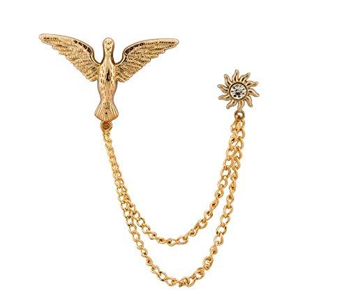 Knighthood Victory Bird and Sunshine Anstecknadel/Hemd Pin Anstecker Mantel Anzug Hochzeit Geschenk Party Hemd Kragen Zubehör Brosche für Herren Golden