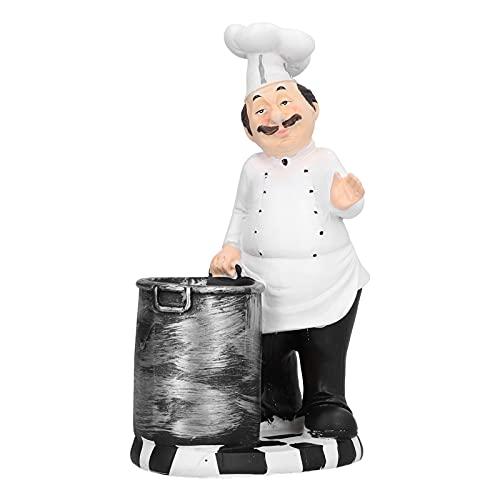 ROMACK Decorazione del Desktop, Aspetto Realistico squisita fattura da Chef figurina per Sala da...