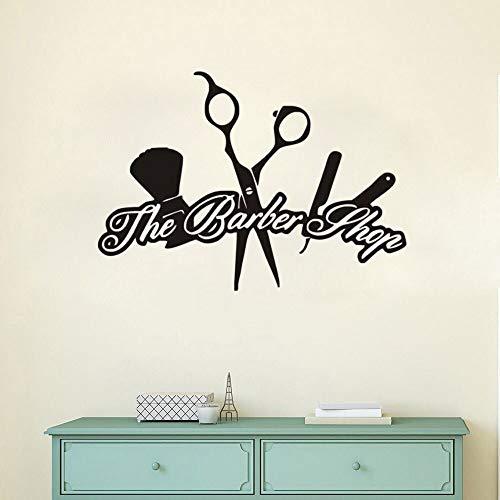 nkfrjz Schönheitssalon Friseur Wandgemälde Friseur Poster wandaufkleber kinderzimmer 80x57cm
