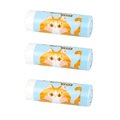 Liangzhu 3 Tüten Haustier Katze Katzenklo Beutel mit Kordelzug Katzentoilettenbeutel Haustierabfallsack (Wie das Bild, 58 * 35 cm)