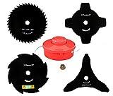 4 X sharfes Messer & Fadenspule & Mutter für Passend für: Fuxtec FX-FSR152, FX-MT152, FX-PS152 Motorsense Freischneider
