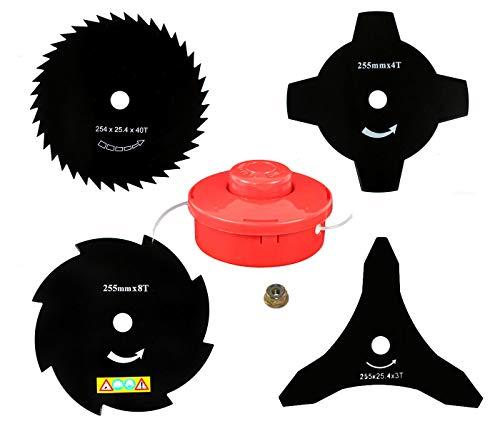 4 X sharfes Messer & Fadenspule & Mutter für Rotfuchs BC52, MFT52 / KnappWulf KM132 Motorsense Freischneider