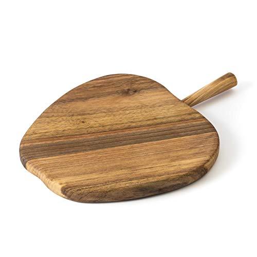 Tuuli Kitchen Planche à découper Plateau à Cuisine à Fromage Bois Noyer Massif Handmade (Pomme)