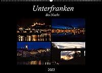 Unterfranken bei Nacht (Wandkalender 2022 DIN A2 quer): Unterfranken mit seinen Doerfern und Staedten ist in der Nacht besonders schoen. (Monatskalender, 14 Seiten )