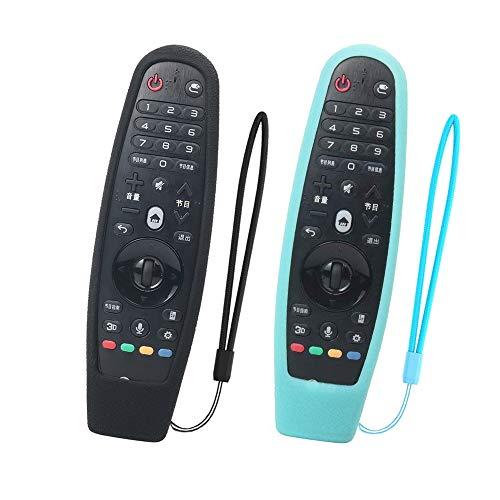 SIKAI 2-Pack Silicona Protectora Compatible con LG Smart TV AN-MR600 / AN-MR650 / AN-MR650A / AN-MR18BA Magic Remote...
