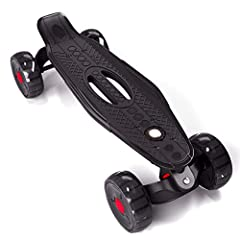 """★【 NEWEST MOUNTAINBOARD】- Ultra-high strength industrial plastic thicken deck with hole design, lighter and stronger,which makes the skateboard easy to carry. ★【Performance】- 22.5 inch long x 6 inch wide thicken deck, max load weight 300 lb, """"waffles..."""