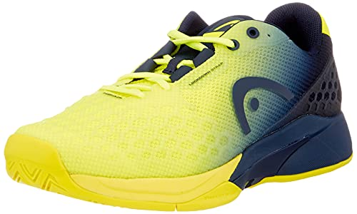 HEAD Men's Revolt Pro 3.0 Tennis Shoes, Neon Yellow/Dark Blue (US Size 12)