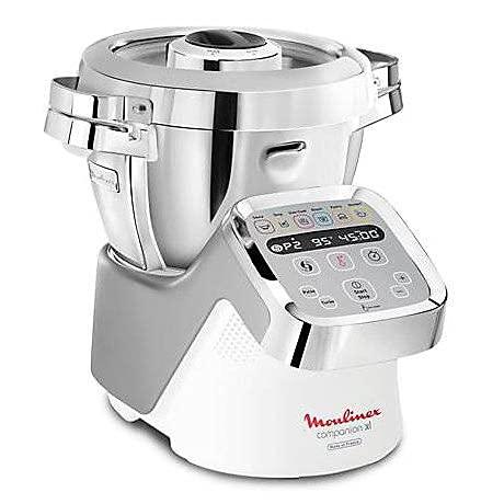 Moulinex - Robot de cocina multifunción (3 L, 1550 W), color plateado