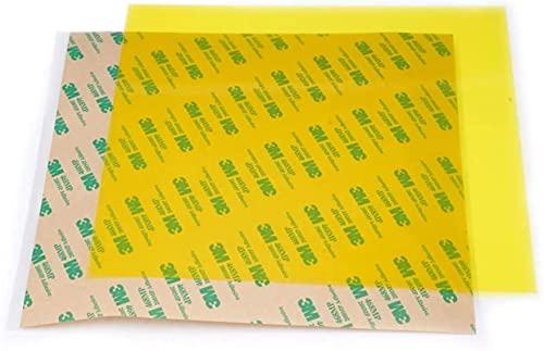 2 Piezas 220 * 220 * 0,3 mm Pei Hoja de Pei fría Amarilla esmerilada con polieterimida Adhesiva 3M 468MP para Piezas de Impresora Wanhao i3 Anet A8 A6 Ender-3 Piezas de Repuesto