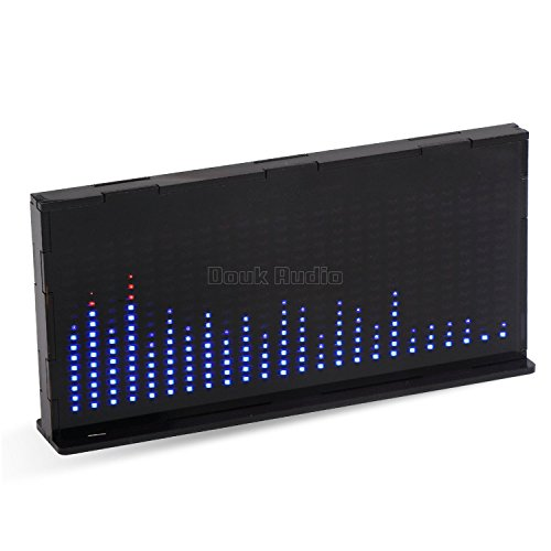 Nobsound 14x24 Music Spectrum Audio Spectrum Sound Level LED Level Meter Display Analyzer for HiFi (Black)