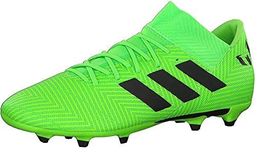 Adidas Nemeziz Messi 18.3 FG J, Botas de fútbol Unisex Adulto, Verde Versol Negbás Versol 000, 38 2/3 EU