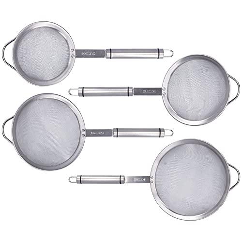 Cuchara para colador, 4 uds, Cuchara de rejilla de filtro de aceite de acero inoxidable 304 para olla caliente, para recoger platos/filtrar/residuos de filtro