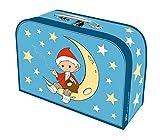 Trötsch Kinderkoffer 'Sandmann' Mond groß, Pappkoffer, Koffer aus Pappe, Geschenk Verpackung, Gutschein Verpackung,Spielkoffer, Metallgriff und ... Kinder: 29 x 20 cm (Unser Sandmännchen)