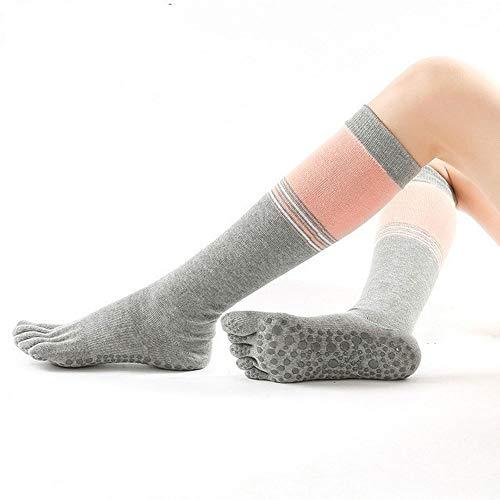 Wdonddonyjw Calcetines de Yoga Yoga Antideslizante Zapatilla Calcetines de Cinco Dedos Aptitud Media de algodón Calcetines de Deporte (Color : F)