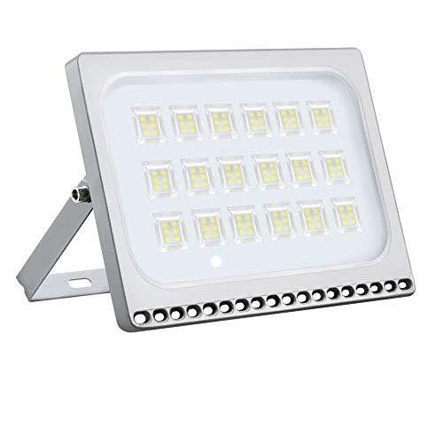 Foco Proyector LED 100W 10000LM para Exteriores, luz de Seguridad, Resistente al Agua IP65, Diseño Ultraligero Ultrafino