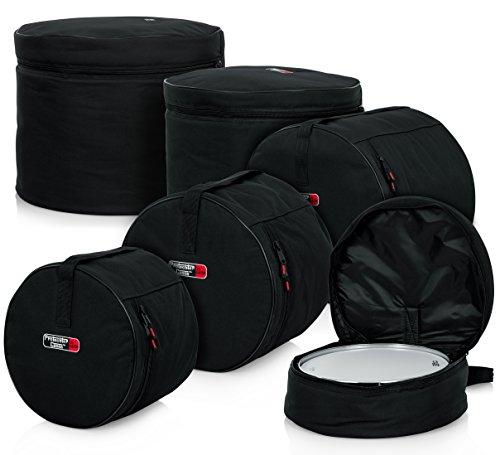 """Gator Cases Protechtor Series 5 piece Padded Drum Bag Set for Standard Kits; 22"""" Kick, 12"""" Tom, 13"""" Tom, 16"""" Tom, 14"""" Snare (GP-STANDARD-100)"""