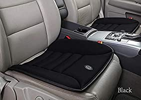 GiGi G-1586A Pure Memory Foam Breathable Car Seat Cushion Pad Mat for Home/Office Chair, Car Seat(Black)