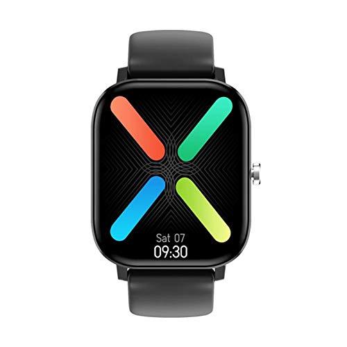 JXFF Smart Watch, DT36 Men's Bluetooth Llamada 1.75 Pulgadas 420 * 485 Monitor de Ritmo cardíaco Tracker Fitness Sports Lady SmartWatch Soporte Android iOS,A