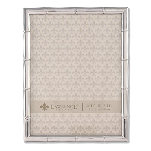 Lawrence Frames 710157 Silver Metal Bamboo Picture Frame, 5 by 7 inch