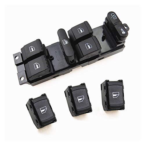 Fangaichen Adecuado para el Coche Botón del Interruptor de la Ventana del Motor del Lado del Conductor del Interior del Coche para Passat B5 Bora Golf 4 MK4 Seat Leon Toledo 1J4959857D 3B0959855B