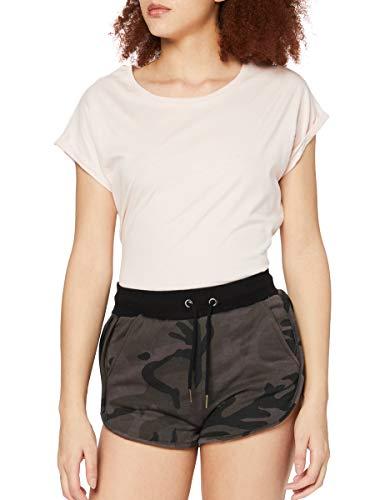 Urban Classics Ladies Hotpants Pantalones Cortos, Multicolor (Dark Camo/Black 1058), M para Mujer