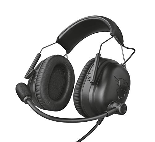 Trust GXT 444 Wayman - Auriculares Pro para PC, Laptop, Playstation 4, Xbox One, Nintendo Switch y e-Sports, Negro