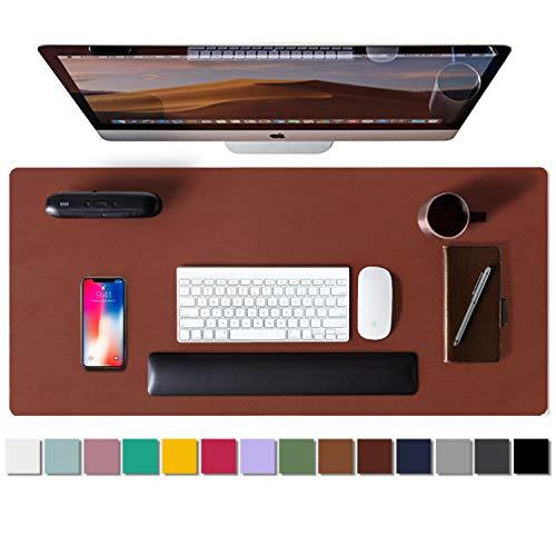 Aothia Tappetino da scrivania, Tappetino per Mouse, Assorbente da scrivania in Pelle PU Antiscivolo, Protezione da scrivania per Laptop per casa e Ufficio(80cmx40cm,Rufous)