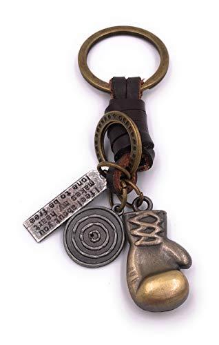 H-Customs Boxhandschuh Boxen Sport Schlüsselanhänger Anhänger aus Metall Bronze