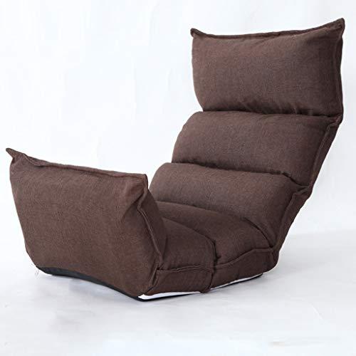 WYBFZTT-188 Brown sofá Perezoso, Relax cojín de la Silla Sala de Juego for sillas de Piso multiángulo Sofá Camas for Ver TV del Juego del mediodía Resto de la Siesta