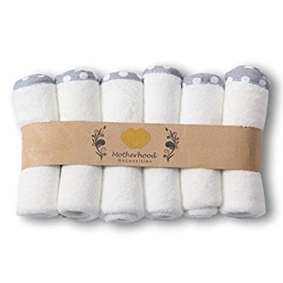 """Bamboo Baby Washcloths 6 pack ~ Very Soft ~ Gentle on all skin ~ Baby Shower Gift ~ 10"""" x 10"""""""