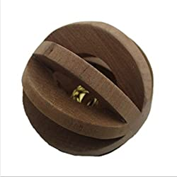 Natural Wood Ball with Bell