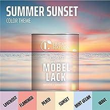LINEA NATURA - Colorsiegel Möbellack - SUMMER SUNSET 1 L, MINT OCEAN