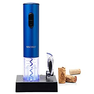 Secura Electric Wine Opener, Automatic Electric Wine Bottle Corkscrew Opener...