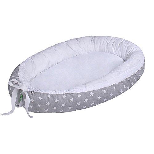 Lulando Capazo de bebé multifuncional Lulando (80 x 45 cm) gris White Stars/White 1 Unidad 500 g