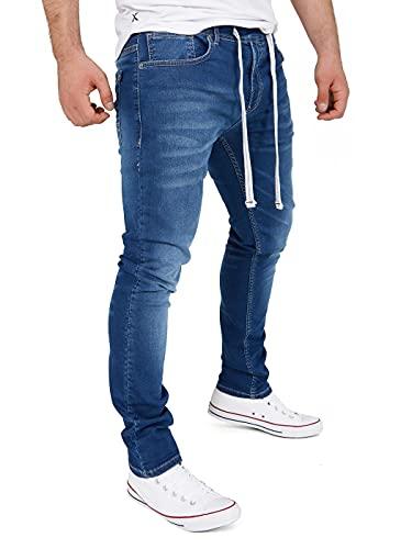 Yazubi Jungen Jogger Jeans Jogginghose Jogg Jeans Cargo Pant Jeggings Herren Sweathose Männer Jeansoptik Steve, Blau (Insignia Blue 194028), W33/L32