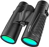 Jumelles professionnelles 12 x 42 en matériau lentille BAK4 HD Color Champ de vision extra large avec une clarté exceptionnelle pour observer les oiseaux, randonnée, voyages, chasse et le sport
