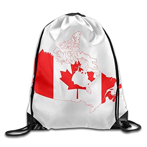 Rucksack mit Kordelzug, Flagge von Kanada, cooles Fitnessstudio, Reiserucksack, Schulrucksack