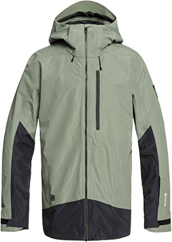 Quiksilver Forever 2L Gore-Tex Snowboard Jacket Mens Sz S Agave Green