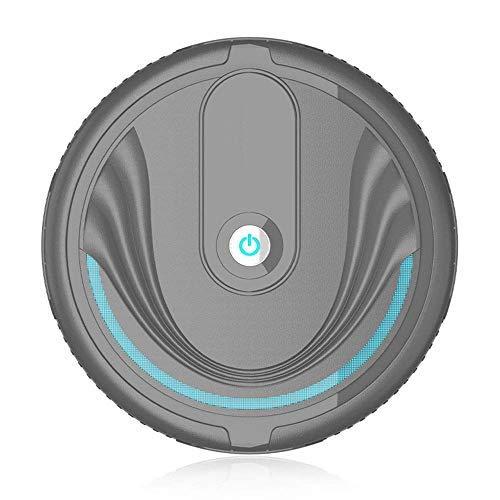Aspirador doméstico Aspirador Robot Aspiradora súper Delgada Carga silenciosa Aspirador robótico Limpia Pisos Duros para el hogar Alfombras de Pelo Mediano (Color: Blanco, Tamaño: 23x23x6.5c