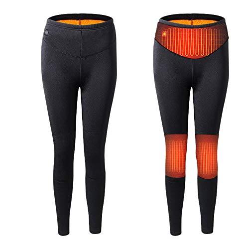 JIU SI Pantalones de Invierno con calefacción eléctrica de la Motocicleta Moto...