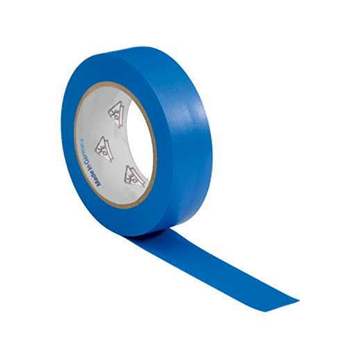 AUPROTEC 1 Rolle VDE Isolierband Isoband Elektriker Klebeband PVC 15mm x 10m DIN EN 60454-3-1 Farbe: blau