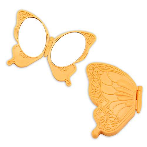 Taschenspiegel in Form eines ornamentreichen Schmetterlings/Compact Mirror
