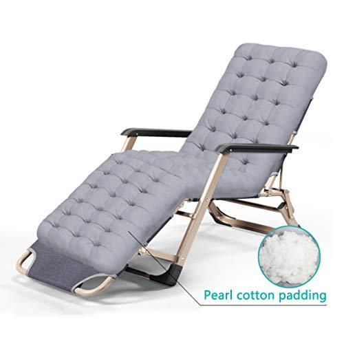 Heavy Duty Textoline Zero Gravity Chair - Klapp- und Liegesonnenliege mit Kopfkissen im Freien - Hergestellt aus Stahlrahmen für Patio, Wintergarten oder Liegestuhl