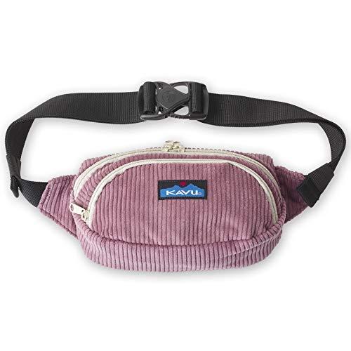 KAVU Cord Spectator Belt Bag Corduroy Fanny Pack - Rum Raisin