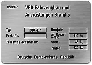 Sachs Motortypenschild Typschild Typenschild Blanco Motor Typplatte Schild 504 505 506 50//2 50//3 50//4 50//5 50 S 501 80 SA SW Motor Schild