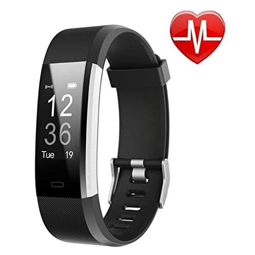 Monitores de actividad Impermeable rastreador de ejercicios, Control de actividad con monitor de ritmo cardíaco, reloj inteligente con el sueño del monitor, el contador de paso, contador de calorías,