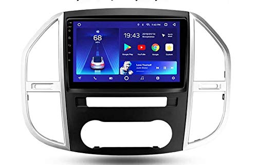 Radio estéreo de auto doble din coche para Mercedes Benz Vito 3 W447 2014-2020 Jefe GPS Navigation receptor multimedia digital Unidad 9 pulgadas reproductor de vídeo carplay DSP RDS,8cores,4+64G